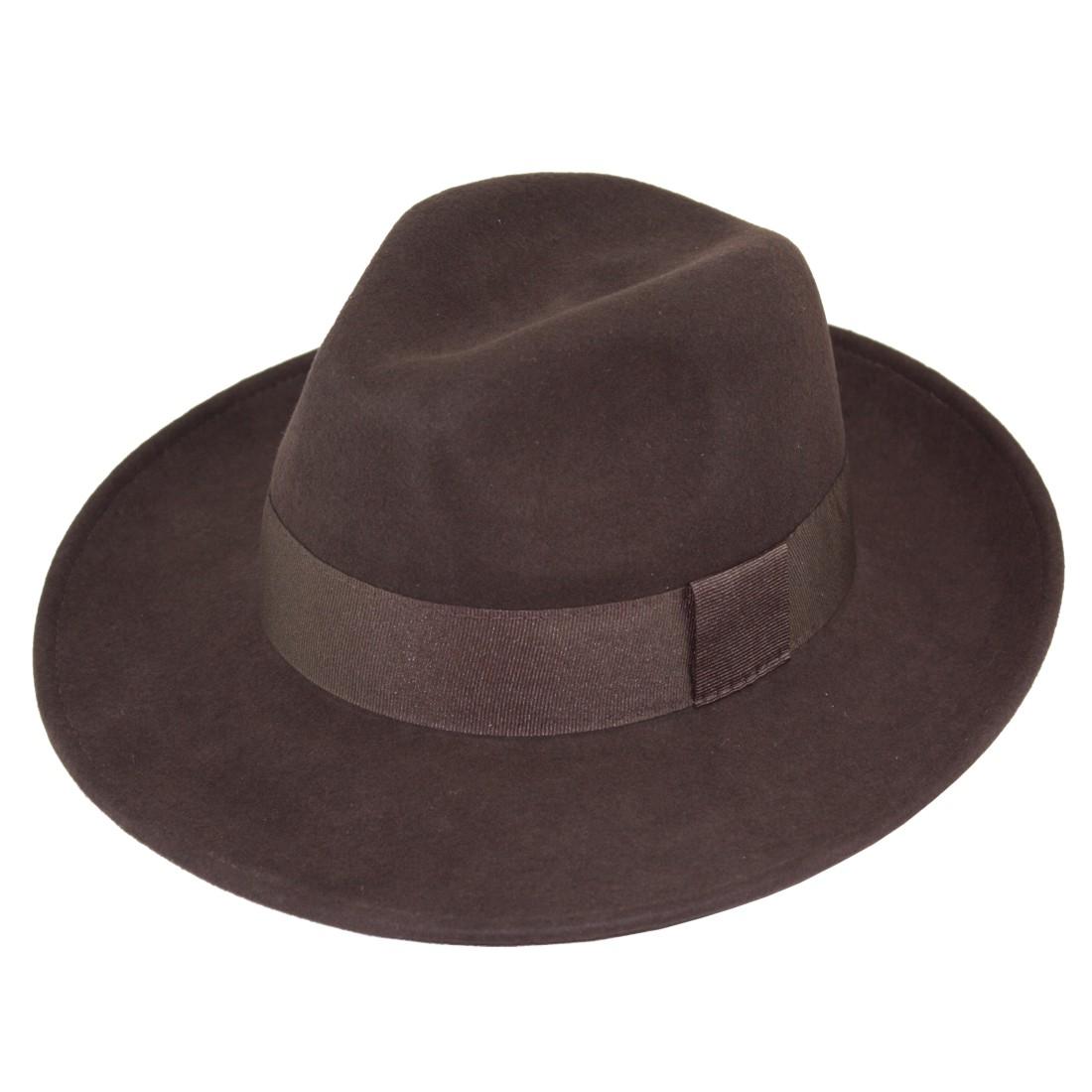 1710. Sombrero fieltro de lana 100%. Ala ancha.  a4db3c7dfd4