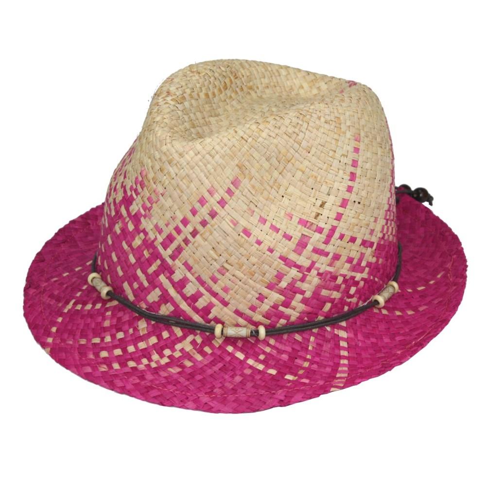 2157. Sombrero de rafia natural bicolor  36d3ab59056
